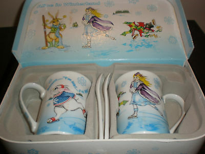 PAUL CARDEW ALICE IN WONDERLAND WINTERLAND MUG SET
