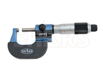 "Shars 0- 1"" DIGITAL READOUT DIGIT COUTNER OUTISDE MICROMETER 0.0001"" CARBIDE NEW"