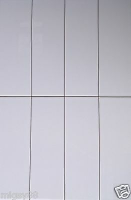 Wall Tiles -- Gloss White 300x100mm (First Quality)