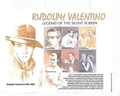 Stamps - Antigua : 2001 - Valentino - Cinema