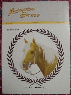 August 1963 Magazine PALOMINO HORSES - Mineral Wells
