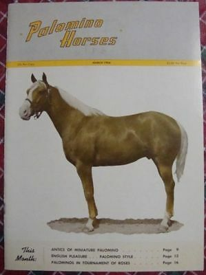 March 1966 Magazine PALOMINO HORSES - Mineral Wells
