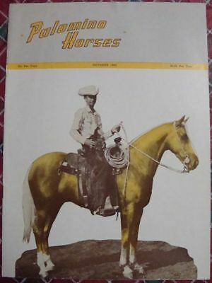 October 1962 Magazine PALOMINO HORSES - Mineral Wells