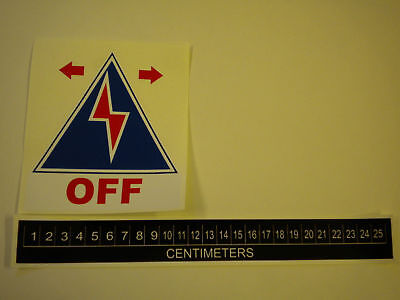 1 x Race Rally Scrutineer Electric Cut off Sticker
