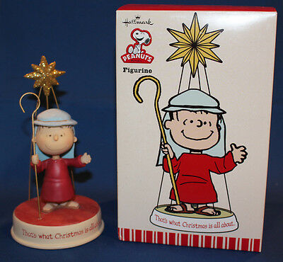 Hallmark 2010 That's What Christmas Is all About Peanuts Linus Figurine  XOX5007