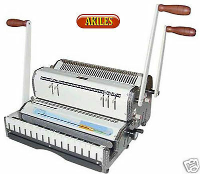 Akiles Duomac-431 Binding Machine & Punch 3:1 Wire & 4:1 Coil [New] Dual Use