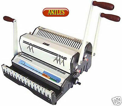 Akiles Duomac-521 Binding Machine & Punch 2:1 Wire & 5:1 Coil [New] Dual Use