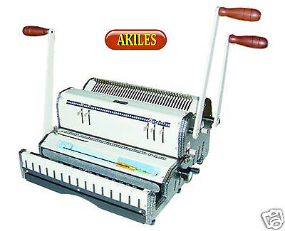 Akiles Duomac-541 Coil Binding Machine & Punch 4:1 & 5:1 Coil [New] Dual Use