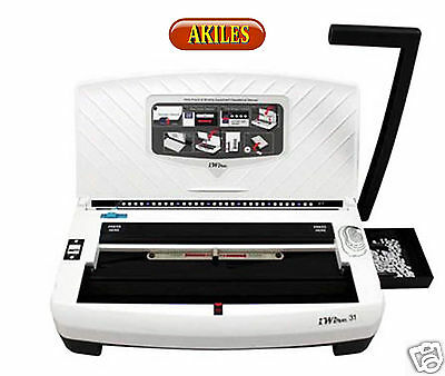 Akiles iWire-21 Wire Binding Machine & Punch 2:1 pitch ( New ) AIW-21