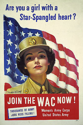 Join the WAC now! WWII Army Nurse 1943 Poster