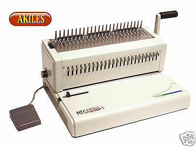 Akiles MegaBind-1E Comb Binding Machine & Electric Punch 14-inch [New] Warranty