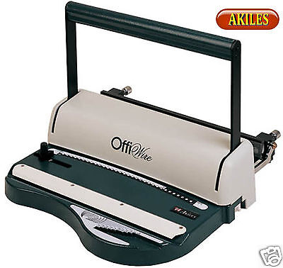 Akiles OffiWire-21 Wire Binding Machine & Punch 2:1 pitch ( New ) AOW-L21