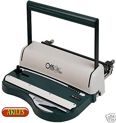 Akiles OffiWire-31 Binding Machine & Punch 3:1 pitch [New] AOW-L31 with Warranty