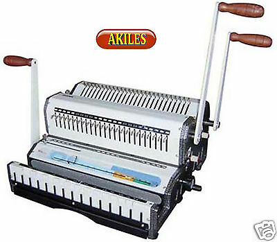 Akiles WireMac-Combo-21 Binding Machine & Punch 2:1 Wire, Combs & Spiral-O [New]