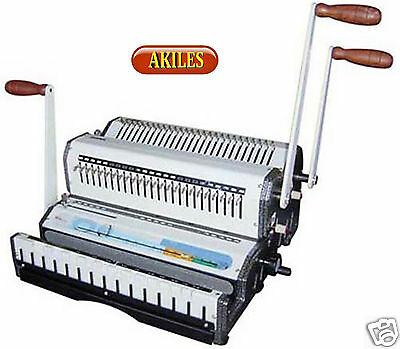 Akiles WireMac Combo 31 Binding Machine & Punch for 3:1 Wire, Combs Spiral-O New