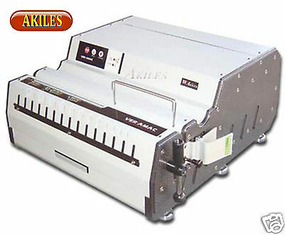 "Akiles VersaMac Electric Paper Punch includes Choice of Die 14"" Heavy Duty (New)"