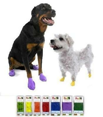 PAWZ Dog Boots Booties - 12 Pack - Disposable - Reusable - Rubber Paws