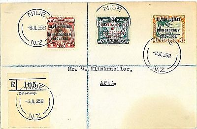 POSTAL HISTORY  NIUE: VARIETIES ON COVER SG 69b 70a 71a