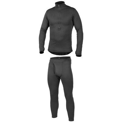 Helikon Combat Thermal Mens Underwear Set Top + Long Johns Bottoms Level 2 Black