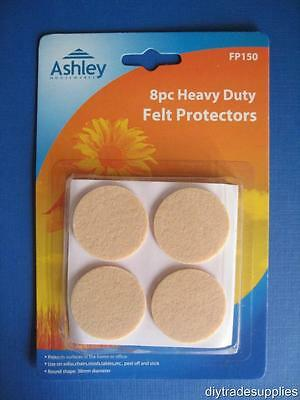 Heavy Duty Furniture Feet Felt Protectors 38mm - Pack 8