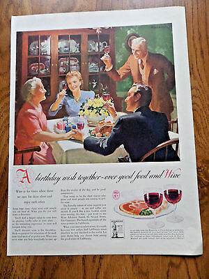 1942 Wine Ad Birthday Party 1942 A&P Coffee Ad