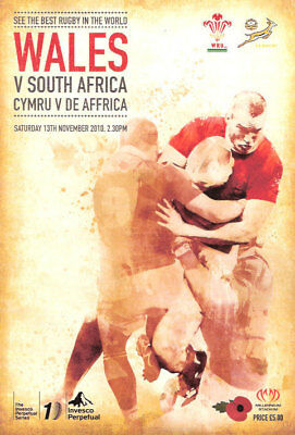 WALES v SOUTH AFRICA 2010 RUGBY PROGRAMME