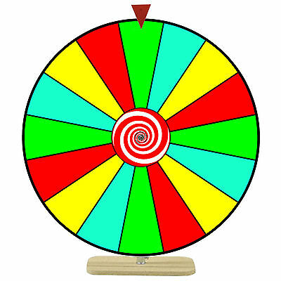 """24"""" Spinning Tabletop Prize Wheel - 16 Colored Dry Erase Sections - Party Event"""