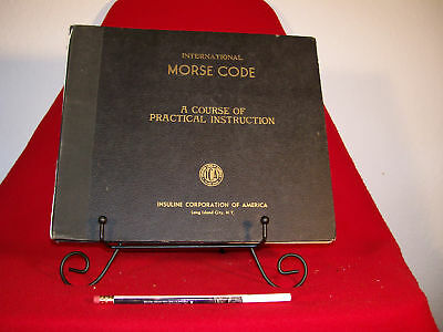 Morse Code Instruction, 33RPM Vinyls.