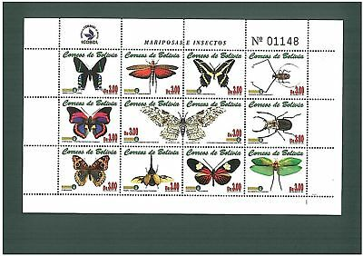 Stamps -  Butterflies & Insects: Bolivia
