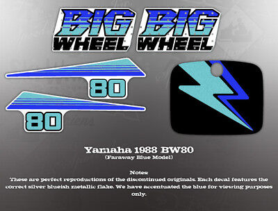 Yamaha 1988 Bw80 Wicked Tough Decal Graphic Set