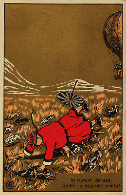 Oriental POSTER.Stylish Graphics. Running away from guards Art Decor.842