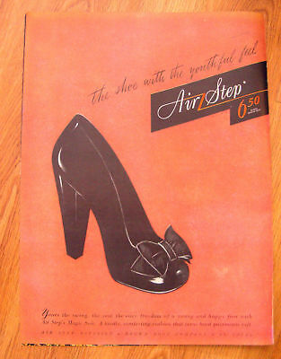 1944 Air Step Shoes Ad  The Youthful Feel