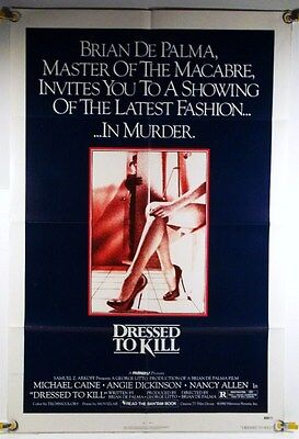 Dressed To Kill Ff Orig 1Sh Movie Poster Michael Caine Horror (1980)