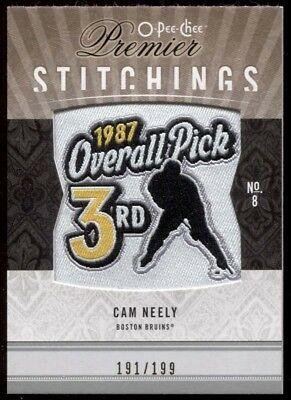 Cam Neely 2009-10 O-Pee-Chee Premier Stitchings Draft Patch WOW PS-CN Rare Bruin