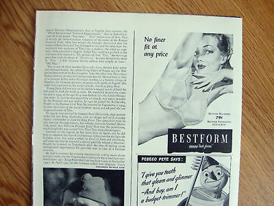 1944 Bestform Bra Ad  Means Best Form