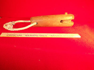 Vintage Nautical Rare Hand Carved Deck Hand Pulley.