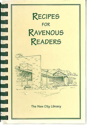 *NEW CITY NY 1997 *RECIPES FOR RAVENOUS READERS COOK BOOK *LIBRARY FRIENDS LOCAL