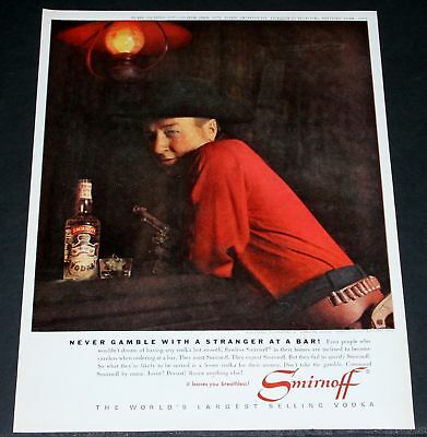 1962 Old Magazine Print Ad, Smirnoff Vodka And George Gobel!