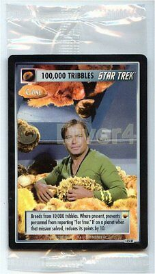 Star Trek CCG 1E Reflections 100,000 Tribbles Box Topper Sealed Foil Mint