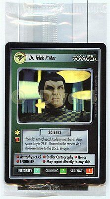 Star Trek CCG 1E Reflections Dr. Telek R'Mor Box Topper Sealed Foil Mint