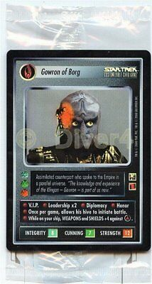 Star Trek CCG 1E Reflections Gowron of Borg Box Topper Sealed Foil Mint