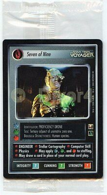 Star Trek CCG 1E Reflections Seven Of Nine Case Topper Sealed Foil Mint