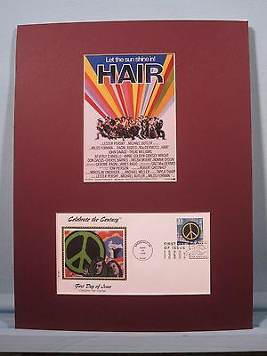 The Broadway Musical - Hair and First Day Cover for the Peace Movement