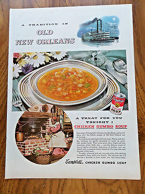 1951 Campbell's Soup Ad  Old New Orleans Tradition