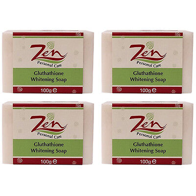 GLUTHATHIONE WHITENING SOAP Organic Pack 4    Inhibits retards melanin formation