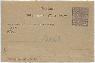 Victoria - Double Postal Stationery