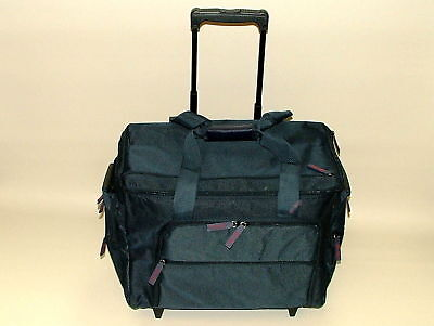 Deluxe New Navy Sewing Machine Premium Trolley Case Bag MR4685