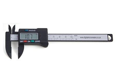 "100mm 4"" Inch Digital Vernier Caliper Carbon Fibre 12 Months Warranty"