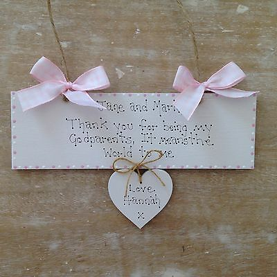 Personalised Godparent Godmother Christening Day Supportive Parents Gift Sign