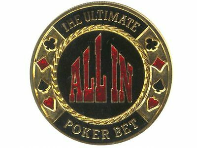 Poker Card Guard  - Dealer Button - All In